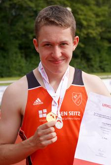 Lasse Gold SIlber 3000m Badischer Meister