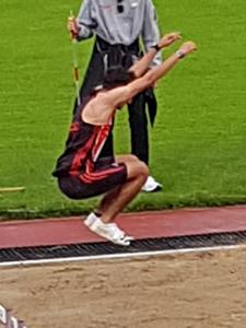 Deutsche Meisterschaft Mannheim Leichtathletik Stefano Dreisprung
