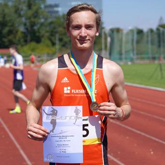 Bronze Süddeutschland Mannheim Leichtathletik Florian