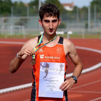 Stefano Bronze Süddeutschland Mannheim Leichtathletik